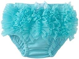 Mud Pie Baby-Girls Newborn Chiffon Diaper Cover, Turquoise, 0-6 Months