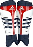 Adidas Adistar Hockey Shin Pads (White/Blue/Red,Small)