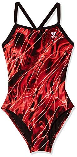 TYR Freeze Frame Jammer Swim Suit, Blue, 32 -Inch