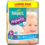 Pampers Active Fit Size 5 (Junior) Large Nappies - Pack of 48