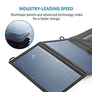 Anker 15W Dual Ports USB Solar Charger PowerPort Solar Lite for iPhone 6/6 Plus, iPad Air 2/mini 3, Galaxy S7/S6/S6 Edge and More from Anker