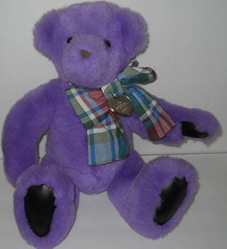 1992 Victoria's Secret Purple Plush Bear - 1
