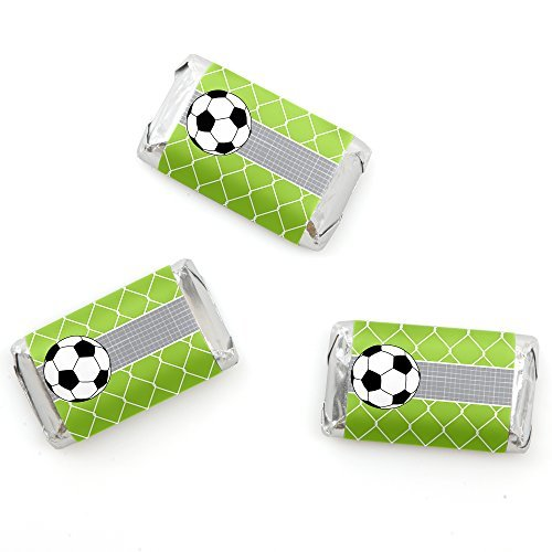 GOAAAL! - Soccer - Mini Candy Bar Wrappers Party Favors - 20 Count - 1