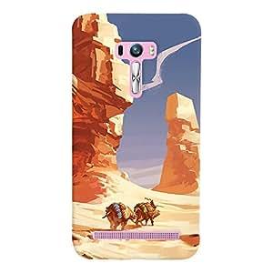 ColourCrust Asus Zenfone Selfie ZD551KL Mobile Phone Back Cover With Water Colour Art Style - Durable Matte Finish Hard Plastic Slim Case