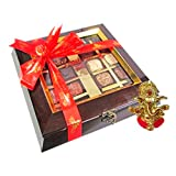 Chocholik Belgium Chocolate Gifts - Assortment Of Exotic Chocolates With Ganesha Idol - Diwali Gifts