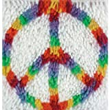 Spinrite Acrylic Blend Wonderart Latch Hook Kit 8 inch x 8 inch Peace