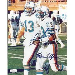 Autographed Dan Marino & Mark Clayton Miami Dolphins Photo- JSA by Main Line Autographs
