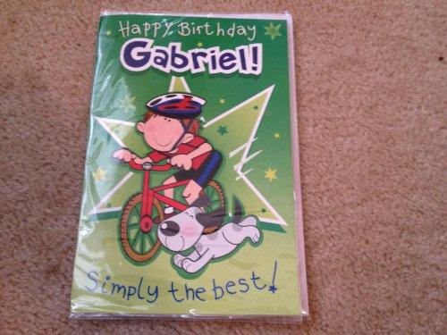 Happy Birthday Gabriel - Singing Birthday Card - 1