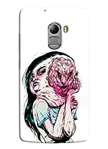 Blue Throat Girl With Two Faces Printed Designer Back Cover For Lenovo K4 Note