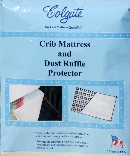 Colgate Crib Mattress and Dust Ruffle Protector - Waterproof Pad Protects Mattress from Tears and Rust Stains