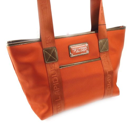 Shopping bag 'Ted Lapidus' arancio ruggine.