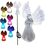 Vzost® - Gorgeous Frosty Solar Angel Lights color changing garden stakes (Box of 2 units)