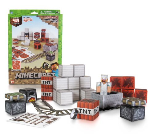 minecraft-16713-papercraft-minecart-building-set