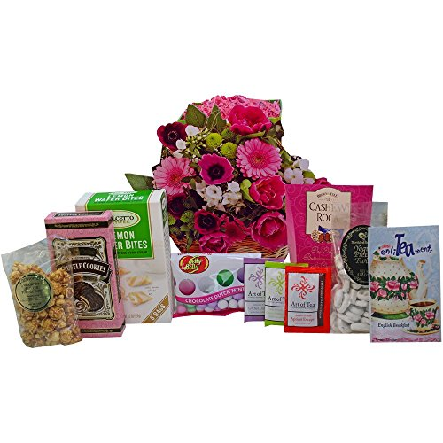 Art of Appreciation Gift Baskets Blooming Gift Bag of Tea, Sweets and Treats (Chocolate And Tea Gift Basket compare prices)