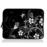 "White Flower 10"" Laptop Sleeve Bag Case Cover Pouch For Samsung Galaxy Note 10.1"" Tablet PC, 10.6"" Microsoft Surface..."
