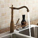 Kingston Brass KS1273ALBS Heritage Kitchen Faucet with Brass Sprayer, 8-3/4-Inch, Vintage Brass