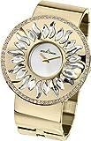 Jacques Lemans Damen-Armbanduhr XL Flora Analog Quarz Edelstahl beschichtet 1-1700F
