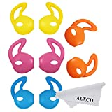 ALXCD Ear Gel for iPhone Earpods, Ear Buds Tips Bumper, 4 Pair White Anti-slip Soft Silicone Replacement Earbud Tips for Earphone of iPhone7 SE 6s iPhone 6s Plus 5s [Sport] (Red/Blue/Yellow/Orange) (Color: Red/Blue/Yellow/Orange)