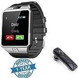 #8: Captcha DZ09 TouchScreen Bluetooth Smart Wrist Watch with Camera & SIM Card Slot with K1 Headset, Mi Redmi Note 4G Compatible