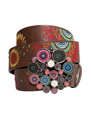 Desigual Cint_Chapón Belt Dakota, Cintura Donna, Marrone (Chocolate 6009), 95 cm (Taglia Produttore: 95 Cm)