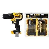 DEWALT 20V MAX Cordless Drill/Driver - Bare Tool (DCD780B) with DEWALT DW1354 14-Piece Titanium Drill Bit Set