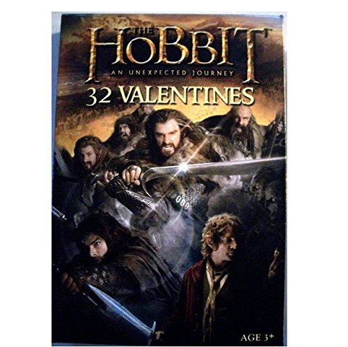 The Hobbit An Unexpected Journey Valentine Exchange Cards (32 Count) - 1