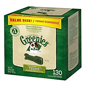 Greenies Dog Dental Chew Treats Teenie 12oz 43ct