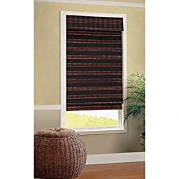 B. Smith Baha Roman Cordless Bamboo Shade in Mahogany 23\