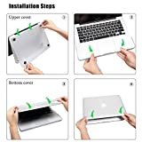 Matte-Hard-Case-for-13-inch-MacBook-Air-LENTION-Clear-Plastic-Hard-Shell-for-Apple-Mac-Book-Laptop-Matte-Finish-Case-with-Rubber-Feet-Come-with-Anti-Dust-Port-Plugs-Keyboard-Cover-Black
