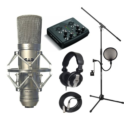 Cad Mic Gxl2200 Recording Pack Mh110 Cables Jamstand M-Audio M-Track Usb Interface