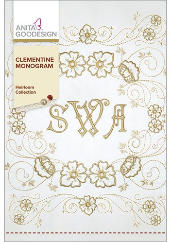 Anita Goodesign Embroidery Designs Clementine Monogram front-225971