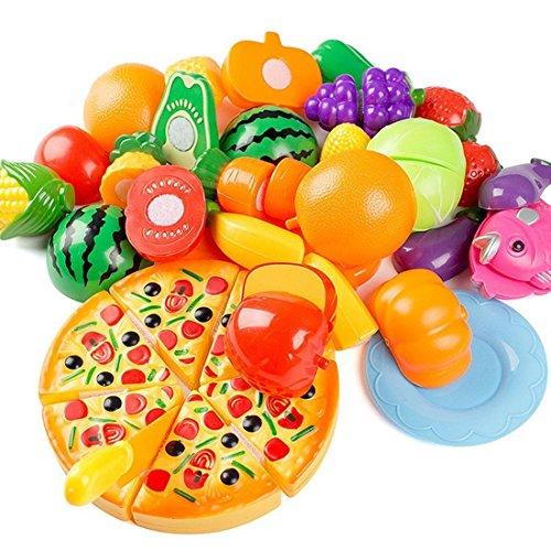 giocattolo di taglio, Finer Shop 24 pezzi Frutta Verdura Cucina Giocattolo Taglio Gioco