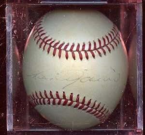 Luis Aparicio Signed Ball - Single OAL Brown Hologram - Autographed Baseballs