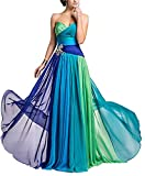 Chiffon Long Colorful Evening Bridesmaid dress Prom Formal Party Dress Gown