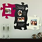 3-Piece Family Puzzle Piece Photo Frame Set