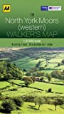 AA Publishing Walkers Map North York Moors (western)