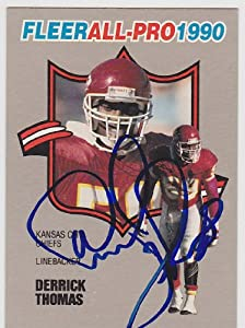 Derrick Thomas Autographed Hand Signed Kansas City Chiefs Trading Card by Real Deal Memorabilia