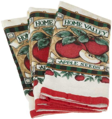Essential Apple Terry Dish Towel, Set of 3