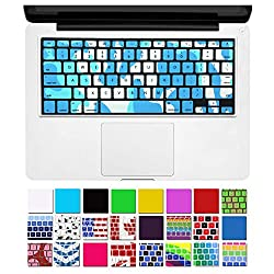 DHZ Unique Ultra Thin Durable Keyboard Cover Silicone Skin for MacBook Pro 13 15 17 (with or w/out Retina Display) iMac and MacBook Air 13 (Army Camouflage.Blue)