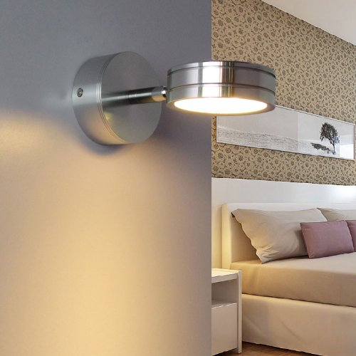 Ishoppy 5W Led Picture Light Wall Frame Exhibition Showcase Cabinet Focus Make Up Mirror Bedside Lamp Bulb Fixture Kit On/Off Switch Rotatable Warm White 450 Lumens