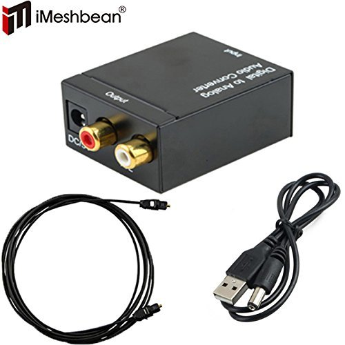 Best Price iMeshbean® Digital Optical Coaxial Toslink Signal to Analog Audio Converter Adapter RCA ...