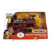 Disney Pixar Toy Story 3 Matchbox Mega Rig Western Train Buiding System w/ Woody and Bullseye
