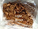Light Brown Pozi Screw Head Caps - Press Fit - Pack Of 50 - Free P&P