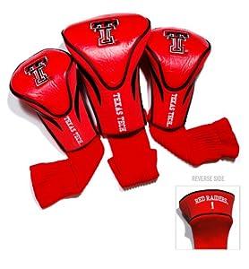 Buy NCAA Texas Tech Red Raiders 3 Pack Contour Golf Club Headcover by Team Golf