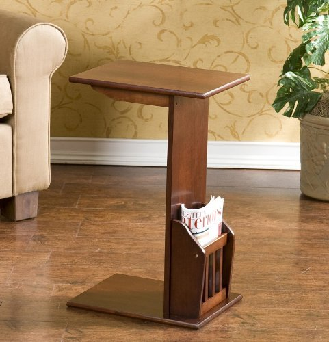 Buy Low Price End Table with Magazine Rack in Espresso Finish (HZ2102H)