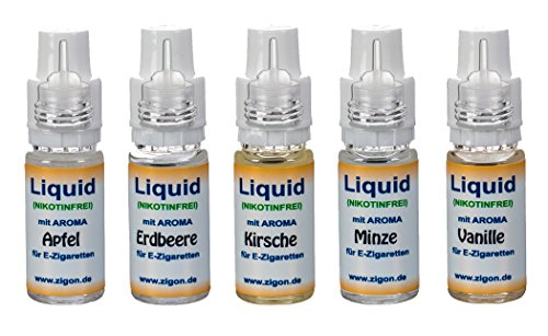 5x 10 ml ZigoN E-Liquid