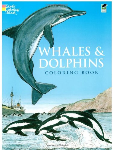 Whales And Dolphins Coloring Book (Dover Nature Coloring Book) front-992984