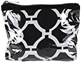 #2: NEEDLECREST Women's Cosmetic Bag Black & White (BG2404102BLK)