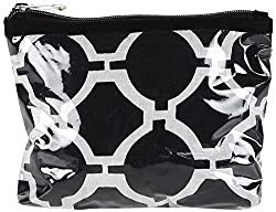 NEEDLECREST Women's Cosmetic Bag Black & White (BG2404102BLK)