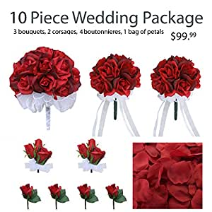 Amazon.com: 10 Piece Wedding Package - Silk Wedding ...